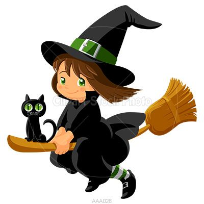 cartoon witch clipart 17